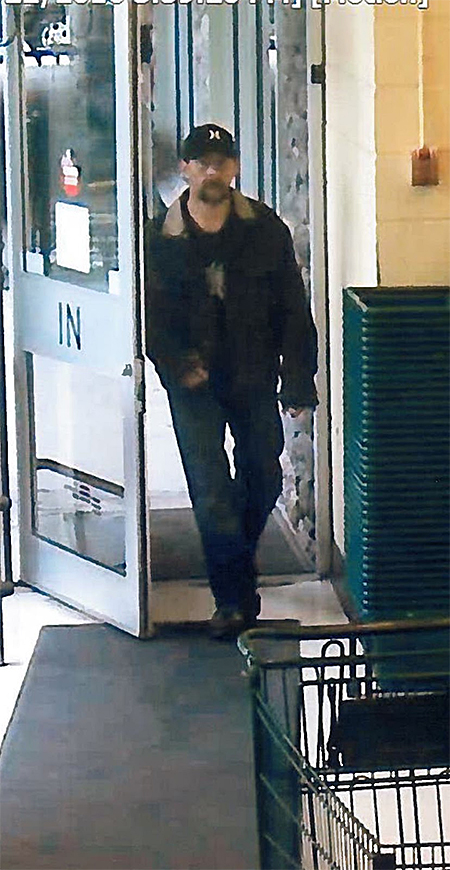 Revelstoke RCMP are seeking the public assistance in trying to help identify the man in this photo. A statement from Revelstoke Crime Stoppers said that on Sunday May 22, at 3:39 pm a man believed to go by the nickname 'Trapper' used a stolen TD Bank Card at Save On Foods. If you have any information with respect to this property crime or any other criminal act, please contact the Revelstoke RCMP at 250-837-5255 or Crime Stoppers at 1-800-222-8477.  Photo courtesy of Revelstoke Crime Stoppers