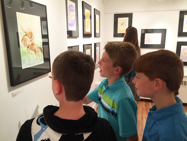 These young art patrons clearly like Sue davies work. David F. Rooney photo