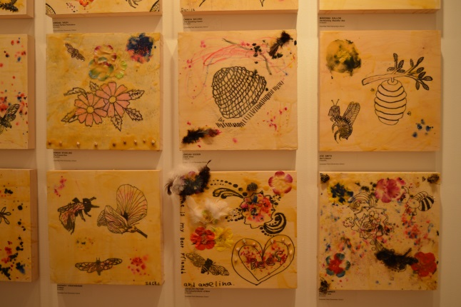 An example of the bee wax art that is on display at the Revelstoke Visual Arts Centre.