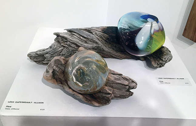 Flow by Lezh Dupereault-Allison is one of several glass objects she has created for the show. David F. Rooney photo