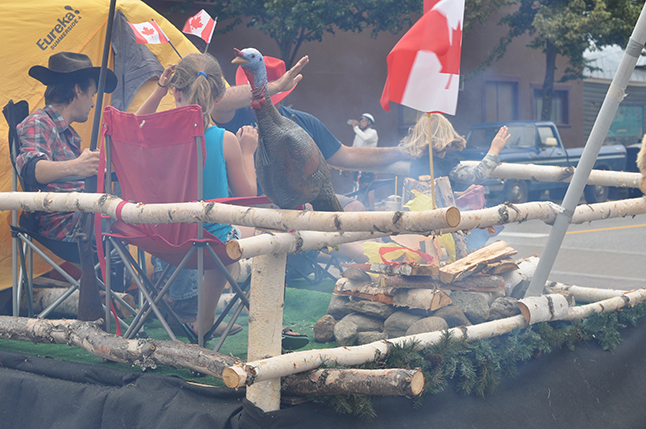 The back of the float featured a campfire and... David F. Rooney photo