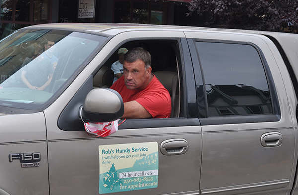 Rob Tippe checks his rear-view mirror to make sure everyne behind his is still in their proper place. David F. Rooney photo
