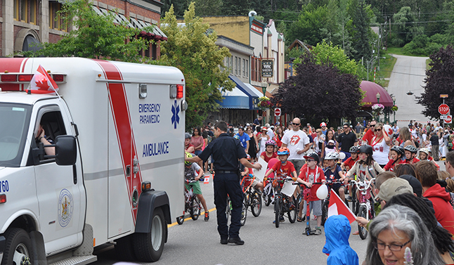 The BC Ambulance Service was the penultimate agency participating in the parade. David F. Rooney photo