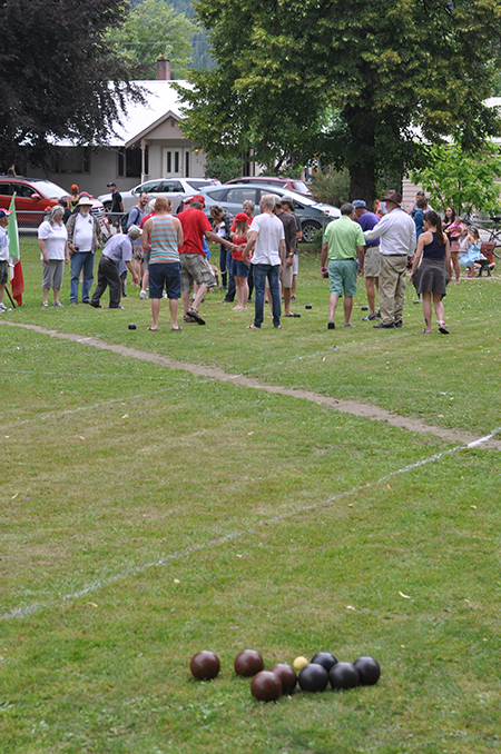 Bocce: a very Revelstoke-specific tradition. David F. Rooney photo