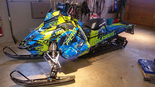 The snowmobile season may be over but that certainly doesn't seem to have deterred the thieves who stole a sled from a Fourth Street home sometime over the Canada Day weekend. Photo courtesy of the Revelstoke RCMP