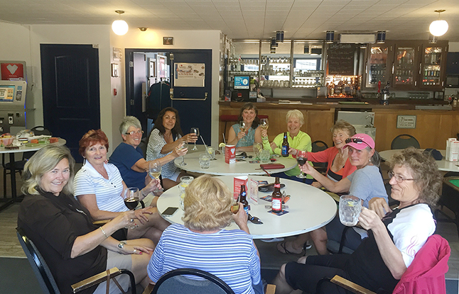 These ladies have been building a tradition of meeting at the Legion every Wednesday afternoon at 5 for a glass of wine. That sounds like a wonderful and relaxing way to spend time with friends. David F. Rooney photo