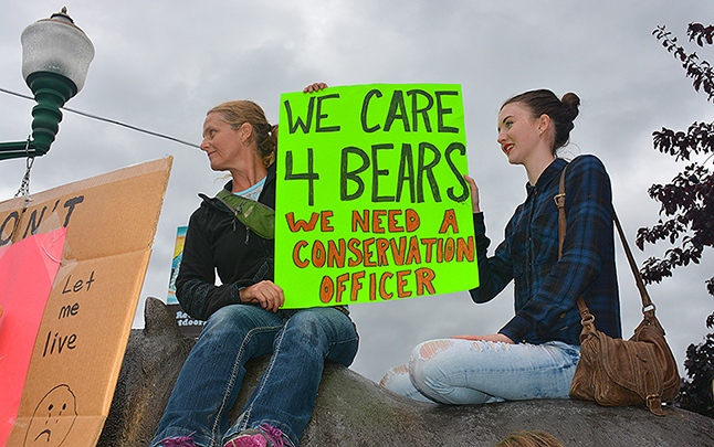 """These girls had the right idea. """"I feel this event need not be repeated, with the (re)implementation of a Conservation Officer in Revelstoke and as such have started a petition found below requesting that the the Minisiter for the Environment, Hon. Mary Polak again explore options for such a program,"""" says James Bacon"""