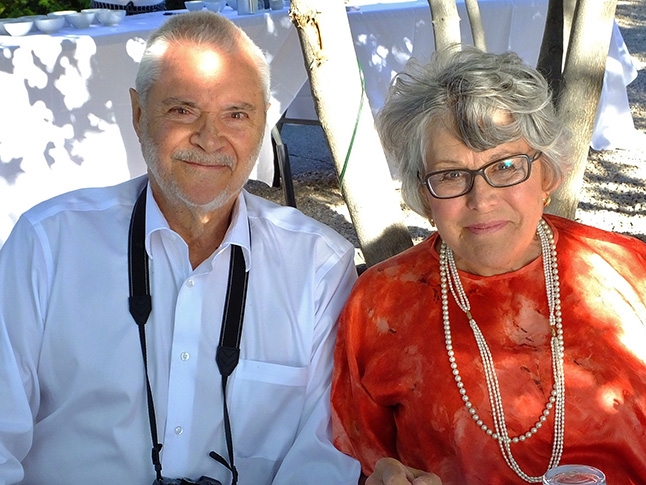 David and Leslie Savage recently celebrated 40 years of marriage with friends at the marvelous God's Mountain Estate at Skaha Lake near Penticton. Believe it or not, Leslie wore the same  dress she wore when they originally exchanges vows. Congratulations! Bob Gardali photo