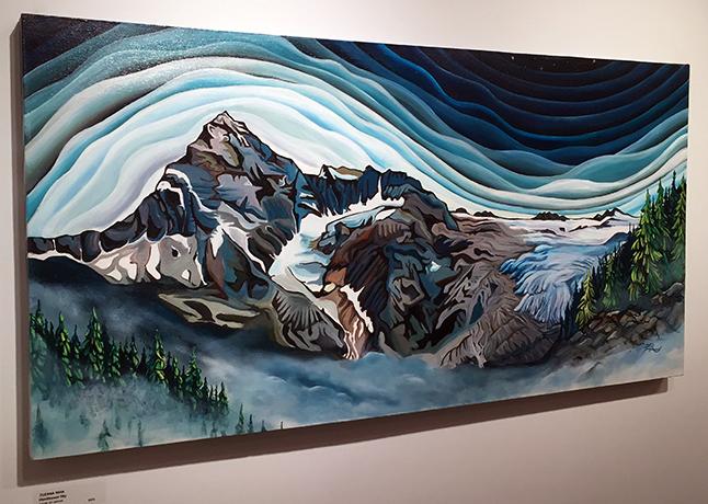 Illecillewaet Sky By Zu Riha acrylic on canvas