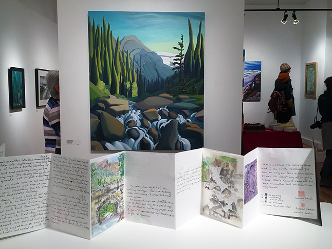 Many artists, like Becky McMahon whose journal this is, included their original journals from this Art in the Park expedition.