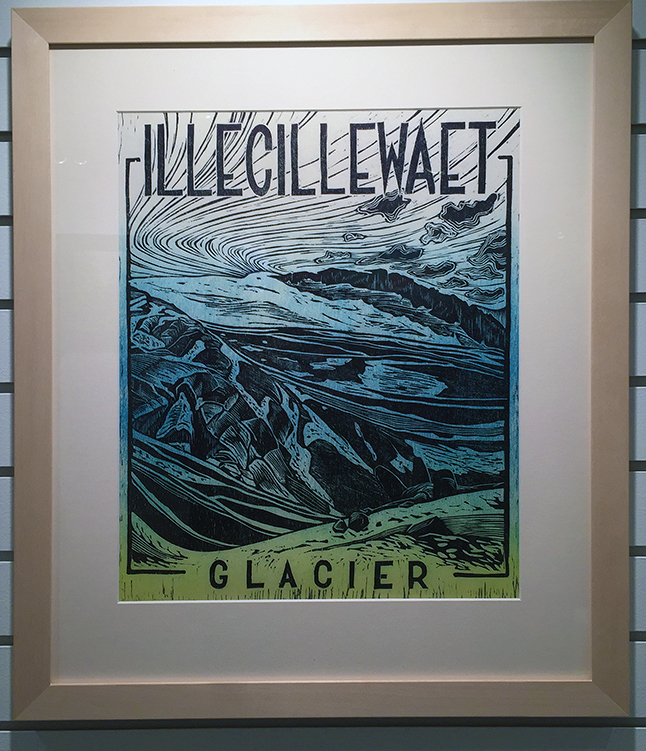 Illecillewate Glacier By Jayme Johnson Two-layer woodblock on Japanese paper
