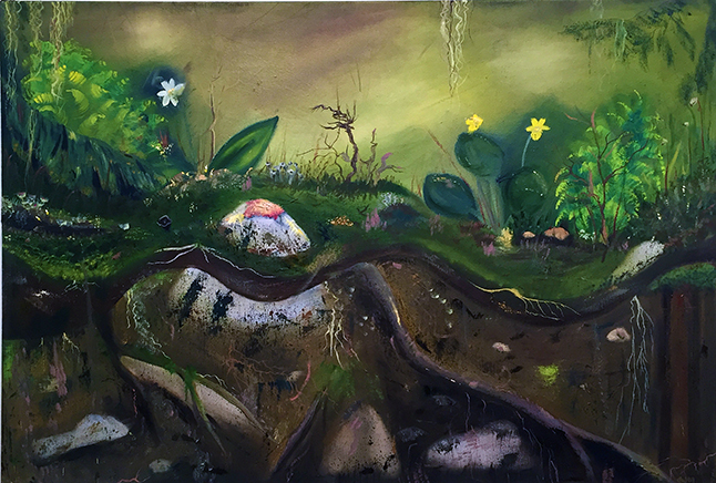 Forest Floor By Gwen Lips Acrylic on canvas
