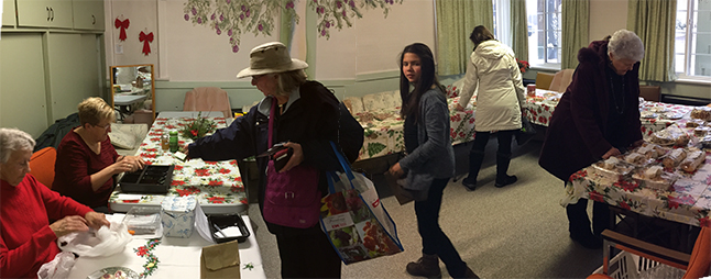 The United Church's annual Christms Tea & Bazaar saw a tremendous amount of delicious-looking baking of offer On Saturday afternoon, November 26. David F. Rooney photo