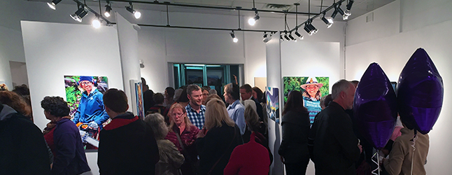 Last Friday's opening for the Art in the Park and the GASP exhibition as well as the retirement arty for Jackie Pendergast was quite the blow-out with 300 people in attendance. David F. Rooney photo