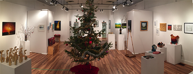 The Visual Arts Society's Christmas Shop opens for business on Friday offering patrons true bargains on affordalke art. Theactioin starts on Friday, December 2 at 6 pm and runs for weeks until December ?? David F. Rooney photo