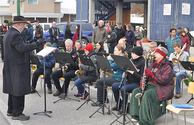 The Community Band provided a medley of appropriate tunes for the occasion. David F. Rooney photo