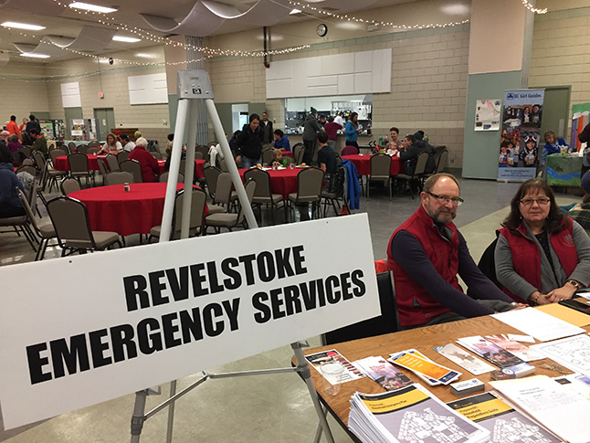 Gary and Chrissie Sulz had a smile for veryone sat the Emergency Services table. David F. Rooney photo