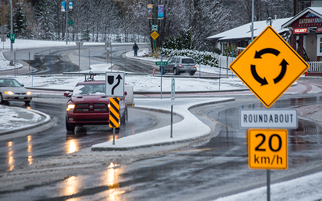 The answer is to slow down, be courteous, and drive safe.Jason Portras photo