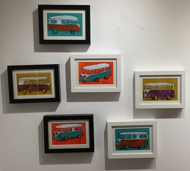 There are also framed prints of VW vans... David F. Rooney photo