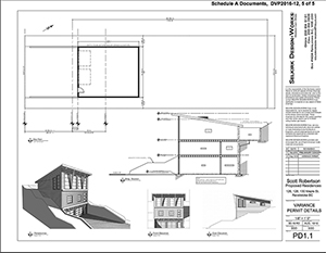 Only Mayor McKee had questions for senior staff regarding time allotted for Council's discussion of the application. Selkirk Design Works drawings courtesy of the City of Revelstoke